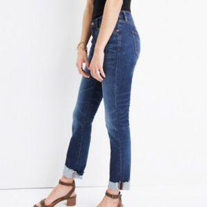 Madewell Slim Boyfriend Jeans Size 31 With Raw Hem